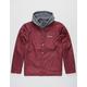 PRIMITIVE 2-Fer Burgundy Mens Hooded Jacket