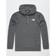 THE NORTH FACE Triblend Henley Black Mens Lightweight Hoodie