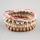 FULL TILT 6 Piece Spike Beaded Bracelets