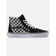 VANS Sk8-Hi Blur Check Black & Classic White Shoes