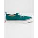 VANS Authentic Elastic Lace Quetzal Green & True White Kids Shoes