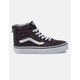 VANS Glitter Stars Sk8-Hi Zip Black & True White Girls Shoes