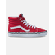 VANS Check Foxing Sk8-Hi Racing Red & True White Womens Shoes