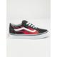 VANS Moto Flame Old Skool Black & Racing Red Boys Shoes