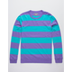 CHARLES AND A HALF Stripe Purple Mens Rugby Shirt