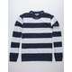 CHARLES AND A HALF Stripe Navy Mens Rugby Shirt