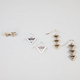 FULL TILT 3 Pair Triangle Earrings