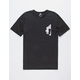 NIKE SB Vertical Dye Black Mens T-Shirt