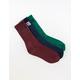 VANS 3 Pairs Classic Assorted Boys Crew Socks