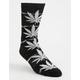 HUF Plantlife Lightning Wash Black & White Mens Crew Socks