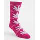 HUF Plantlife Lightning Wash Pink Mens Crew Socks