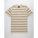 HUF Domestic Pinstripe Khaki Mens T-Shirt