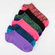 6 Pack Marled Womens No-Show Socks