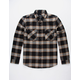 BRIXTON Bowery Black Mens Flannel Shirt