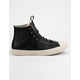 CONVERSE Chuck Taylor All Star Leather Black & Driftwood High Top Shoes