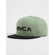 RVCA Twill II Dusty Olive Mens Snapback Hat