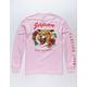 RIOT SOCIETY Tiger Aloha Pink Mens T-Shirt