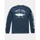 SALTY CREW Striper Navy Mens T-Shirt
