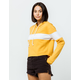 FULL TILT Chest Stripe Gold Womens Crop Hoodie