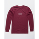 VANS East Box Burgundy Mens T-Shirt