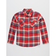 SHOUTHOUSE Oroville Boys Flannel Shirt