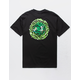 PRIMITIVE x Rick And Morty Nuevo Portal Black Mens T-Shirt