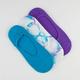 FULL TILT 3 Pack Tie Dye/Solid Hidden Socks