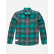 LRG Interference Green Mens Flannel Shirt
