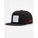 HUF x Budweiser 6 Panel Black Mens Strapback Hat
