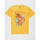 RIOT SOCIETY Floral Dragon Gold Mens T-Shirt