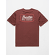 BRIXTON Jolt Burgundy Mens T-Shirt