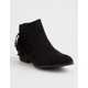 BAMBOO Sadie Black Womens Booties