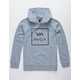RVCA Fill All The Way Heather Gray Boys Hoodie