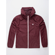 ELEMENT Alder Travel Well Burgundy Mens Windbreaker Jacket