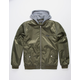 MEMBERS ONLY Flight Satin Twill Olive Mens Hooded Jacket