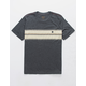 RVCA Motors Stripe Black Boys T-Shirt