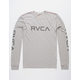 RVCA Big RVCA Light Gray Mens T-Shirt