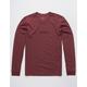 RVCA Small RVCA Burgundy Mens T-Shirt