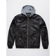 MEMBERS ONLY Flight Satin Twill Black Mens Hooded Jacket