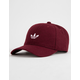 ADIDAS Originals Relaxed Wool Collegiate Burgundy & White Mens Strapback Hat