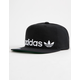 ADIDAS Originals Relaxed Banner Black Mens Strapback Hat