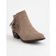 BAMBOO Sadie Taupe Womens Booties