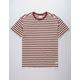 HURLEY Salton Stripe Burgundy Mens T-Shirt