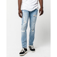 RSQ Seattle Light Blast Mens Skinny Tapered Ripped Jeans