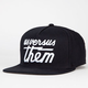 US VERSUS THEM Magnum Mens Snapback Hat