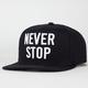 US VERSUS THEM Never Stop Mens Snapback Hat