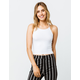 DESTINED Ribbed White Womens Halter Top