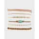 FULL TILT 6 Pack Braid & Stone Bracelets