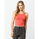 DESTINED Ribbed Red Womens Halter Top