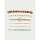 FULL TILT 6 Pack Moon & Bead Bracelets